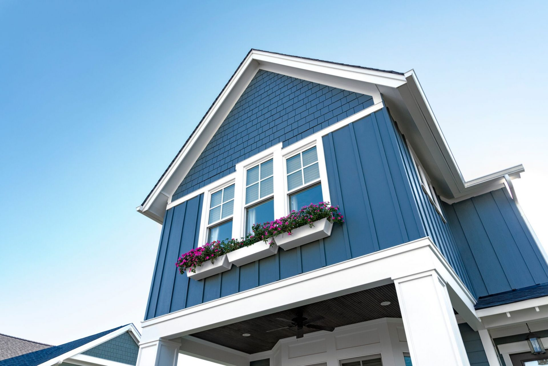 Hardie Plank Siding Blue Shake Board and Batten Fiber Cement