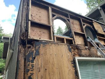 Dry Rot Water Damage Exterior Siding Flashing