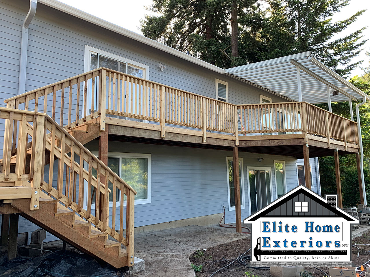 Cedar Deck Replacement James Hardie Fiber Cement Siding Replacement Lp And Vinyl Siding Milwaukie Or