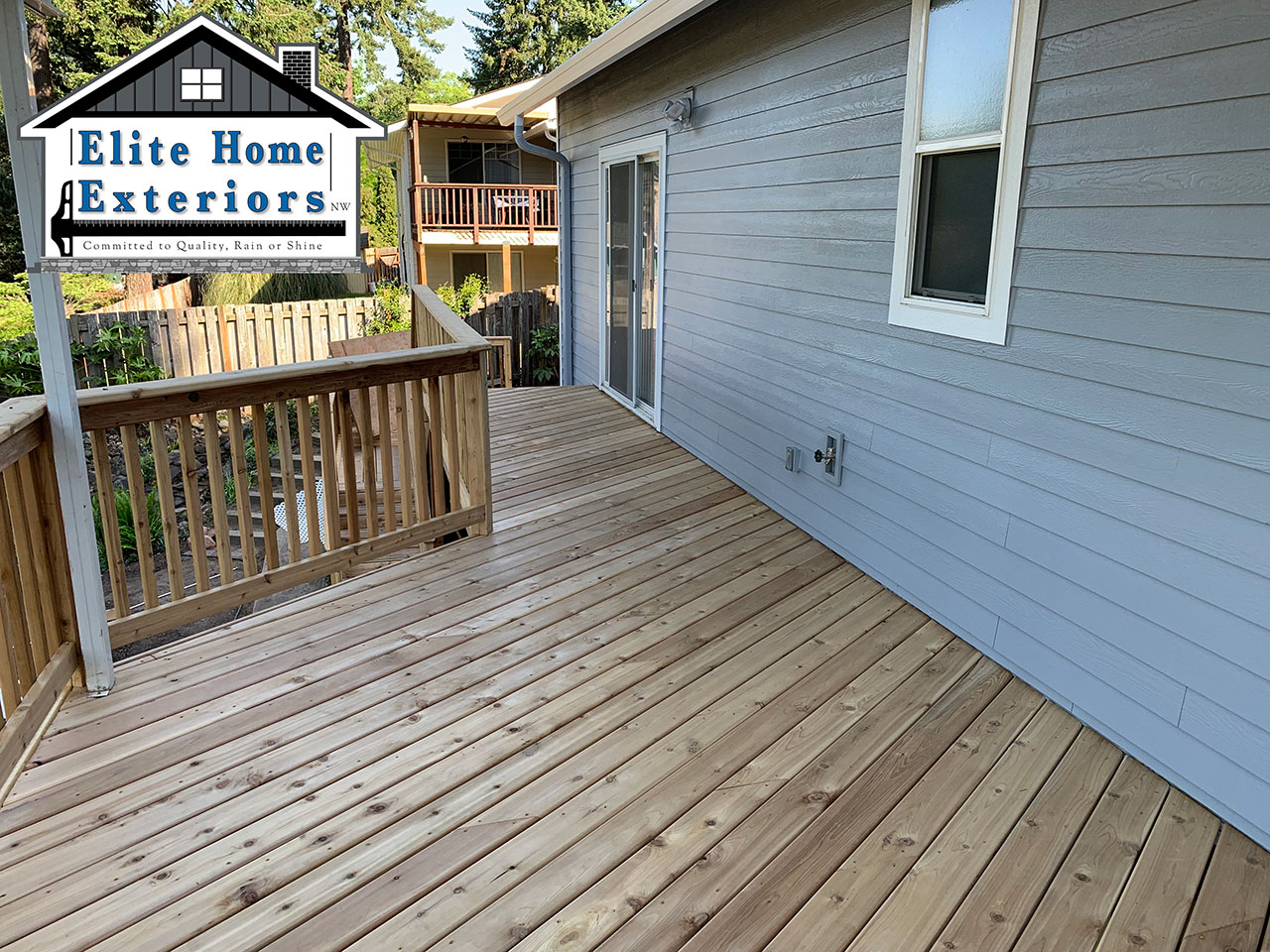 Cedar Deck Replacement James Hardieplank Fiber Cement Milwaukie Or