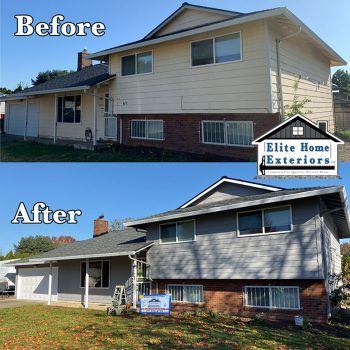 LP Siding Replacement with James Hardie Plank Siding Fiber Cement