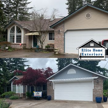 Vinyl Siding to James Hardie Plank Fiber Cement Lap Siding Hillsboro OR Elite Home Exteriors NW