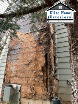 Subwall Water Damage Dry Rot Battle Ground Wa Fiber Cement Lap Siding Hillsboro OR Elite Home Exteriors NW