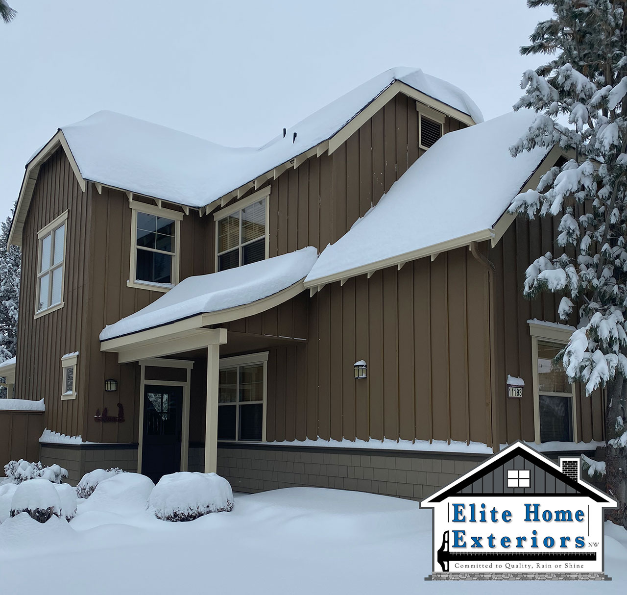 Hardie Plank Siding In Snow