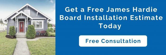 James hardie board installation costs